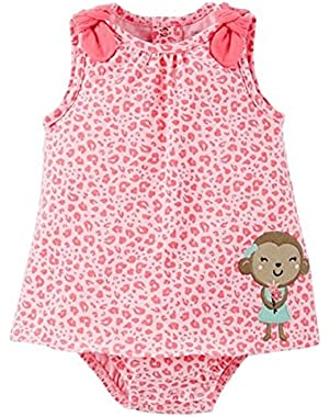 Just One You Baby Girls Pink Leopard Sundress