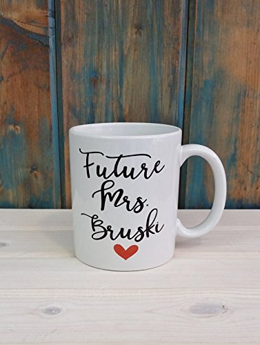 Future Mrs mug, engaged mug, custom mug, personalized name mug, gift for her, engagement gift, name mug, coffee tea mug (Halloween Coffee Drink Names)