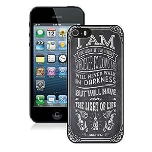 Amazing Cici Mode Christian Jesus Bible Verse Soft Plastic Case Iphone 5 5s Case Black Cover
