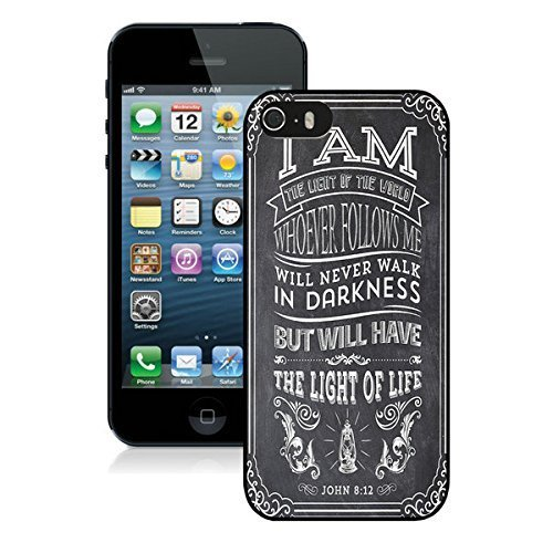 CiCi Mode Christian Jesus Bible Verse Soft Plastic Case Iphone 5 5s cases Black Cover;iphone 5s cases,5s case,iphone 5 cases.