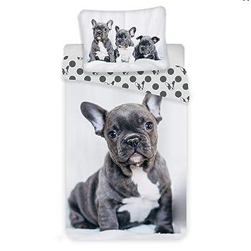 Unbekannt Bettwäsche Set Französische Bulldogge 100 Baumwolle