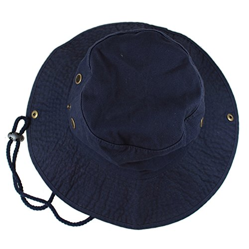 Gelante 100% Cotton Stone-Washed Safari Booney Sun Hats 1910-Navy-L/XL
