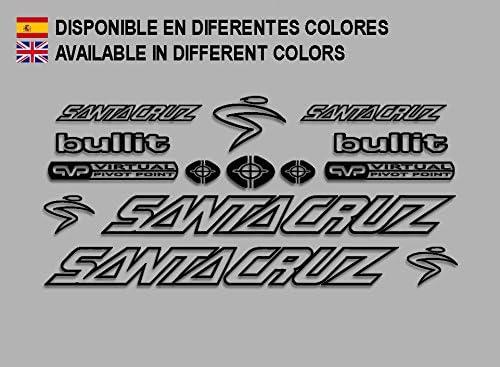 Ecoshirt 7W-3ASW-34OM Pegatinas Santa Cruz Bullit Bike F135 Stickers Aufkleber Decals Autocollants Adesivi, Negro: Amazon.es: Coche y moto