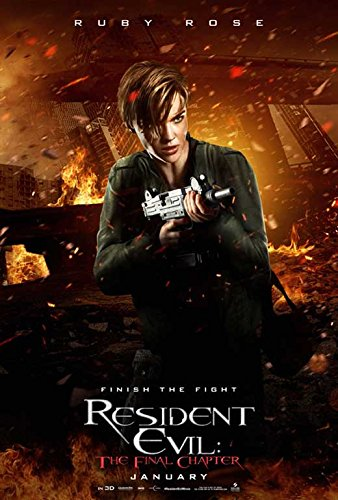 Resident Evil  The Final Chapter Movie Poster 11 X 17 Ruby Rose  Milla Jovovich  J  Made In The U S A