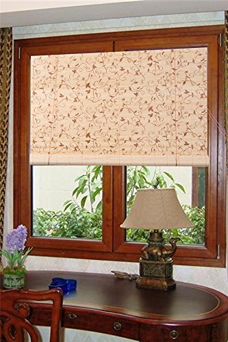 Natural Bamboo Roll Up Window Blind Sun Shade WB-BCT001 (W42