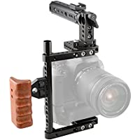 CAMVATE Camera Cage for Canon 600D 70D 80D Mount with Battery Grip(197mm Side Pipe)