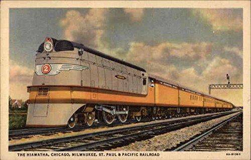 The Hiawatha, Chicago, Milwaukee, St. Paul & Pacific Railroad Original Vintage Postcard ()