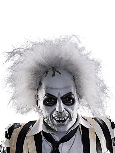 Rubie's Men's Beetlejuice Overhead Latex Mask with Hair, Multi, One Size ()