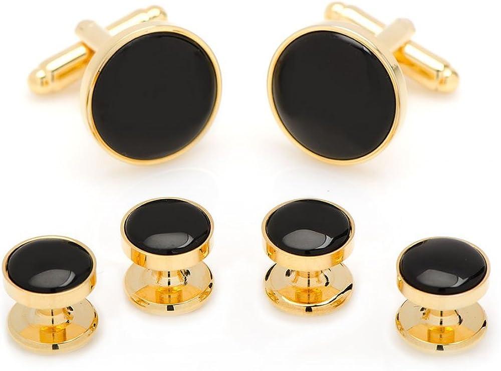 Gold and Onyx Stud Set