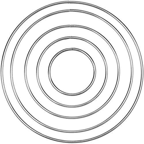 Onwon 10 Pieces Metal Ring Metal Hoops Metal