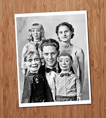 Ventriloquist Creepy Family Doll Dummy Vintage Photo Art Print 8x10 Wall Art Halloween UNframed ()