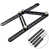 Angleizer Template Tool Aluminum Alloy Tool Ruler Stainless Steel Measuring Instrument for Handymen Builders Craftsmen By WOWGO[Updated Version] …