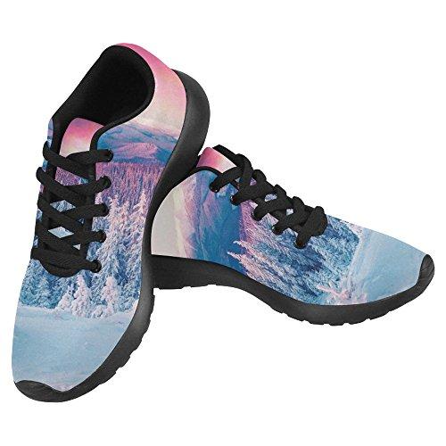 Interestprint Womens Jogging Running Sneaker Leggero Go Easy Walking Casual Comfort Scarpe Da Corsa Colorato Scena Invernale Nelle Montagne Carpatiche Multi 1