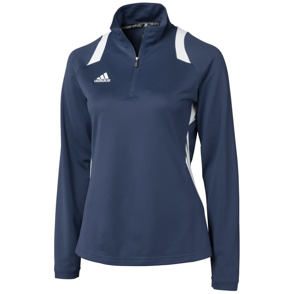 Adidas Womens Climalite Game Day 1/4 Zip Jacket Large College Navy College Navy Large