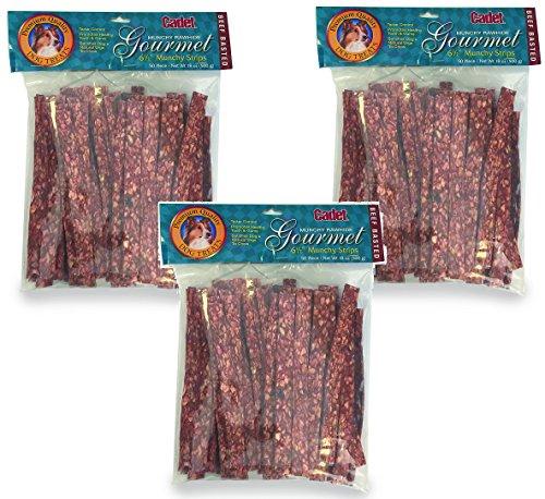 50pk Rawhide ((3 Packages) IMS 50-Pack Cadet Gourmet Munchy Rawhide 6 1/2