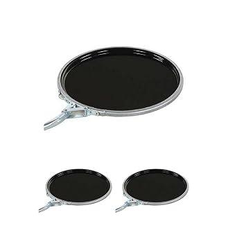 for 5 gallon Vestil LID-STL-LL Steel Lever Lock Pail Lid Black