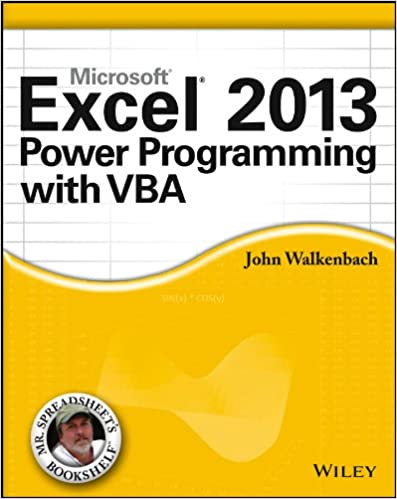 Amazon com: Excel 2013 Power Programming with VBA (Mr  Spreadsheet's