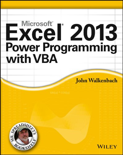 Excel 2013 Power Programming with VBA (Mr. Spreadsheet's Bookshelf) Pdf