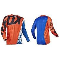 HFJLL Mountain Bike Motocross Jersey Camiseta de Manga Larga - Traje de Descenso al Aire Libre a Prueba de Viento