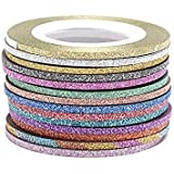 Oceaneshop 14 Colors/Gold&Silver Set Women DIY Rolls Decoration 1/2/3mm Tape Stickers Nail Art Striping Line