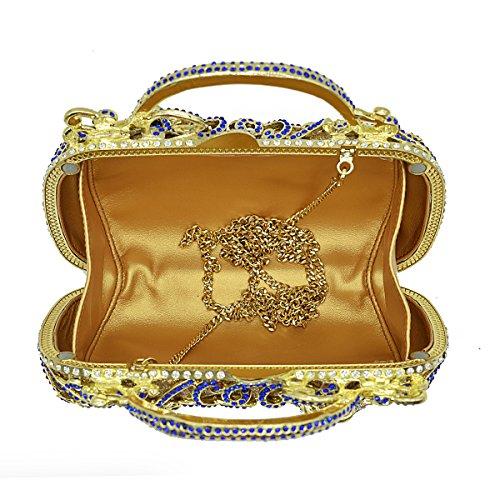 de formelle gris sac à soirée cocktail strass embrayages pochette Gris femme Flada Luxury main 1x8qF