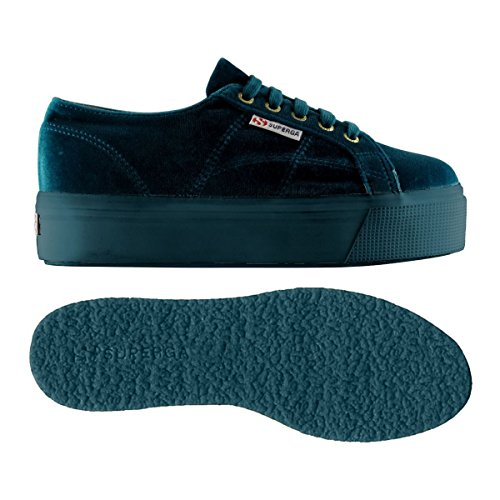 velvetw Blue Chaussures Femme Superga Petrol 2790 Sq48w5