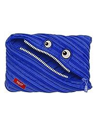 ZIPIT Monster - Estuche con 3 anillas, Estuche Jumbo, Azul Royal, Large