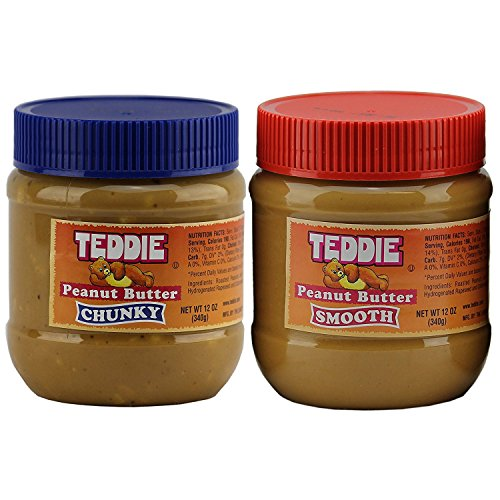 Teddie Peanut Butter, Combo Pack Chunky + Creamy 12 Ounce