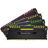 Corsair Vengeance RGB LED 32GB (4x8GB) DDR4 3000 (PC4-24000) C15 for DDR4 Systems PC Memory (CMR32GX4M4C3000C15)