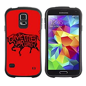 Hybrid Anti-Shock Bumper Case for Samsung Galaxy S5 / Cool Bull & Lunch Message