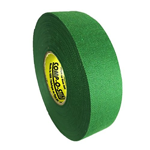 Canes Baseball - Comp-O-Stik ATHLETIC TAPE (Hockey Lacrosse Stick Tape, Baseball Bat Tape) Made In The U.S.A. (Green, 1