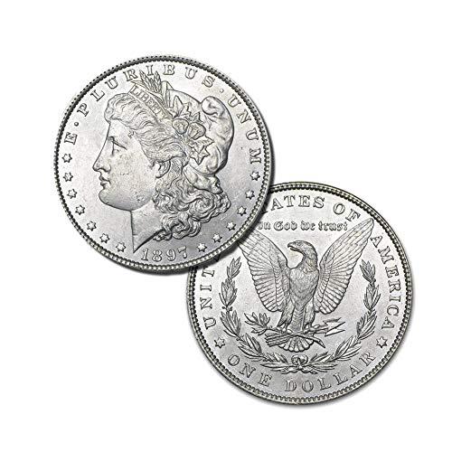 (1897 P Morgan Silver Dollar $1 Brilliant Uncirculated)