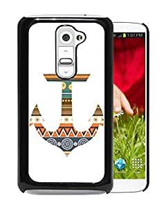 LG G2 Case,Anchor Aztec Black For LG G2 Case