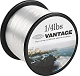 FLADEN VANTAGE PRO Bulk 1/4lb Spools of Monofilament Sea Fishing Line (Clear and Brown) -comes in 3, 6, 10, 12, 14, 18, 23, 28, 35, 45 and 55lbs (Clear, 45lbs - 324m - 0.60mm)[13-354-45]