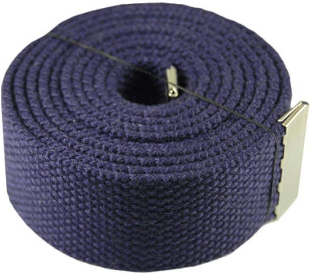 Fashion Belt Purple 60 Plain Big Silver Canvas Military Web Belt /& Buckle #AAAS