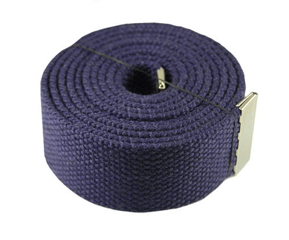 Fashion Belt Purple 60 Canvas Military Web BeltFlip Silver Web Belt /& Buckle #AAAS