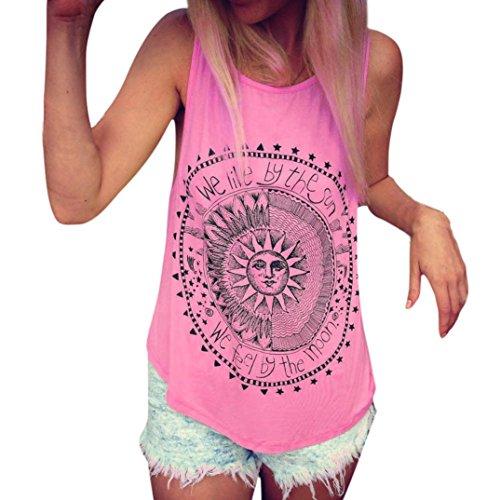 ❤️ Verano Chica Citas Libre Mujer Y Traje Manga Camiseta Fresco Casual Actividades Para Sin Camiseta Aire Sexy De Joven Estampado Sol Al Rosado Patrón sonnena 7gwTWgrHqE