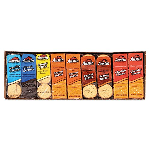 Austin 827544 Cookies and Crackers, Assorted, 1.38 oz per Pack, 45 Packs/Box by Unknown