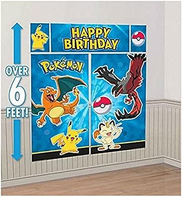 Amazon.com: Unbranded Pokemon Giant Birthday Scene Setter ...