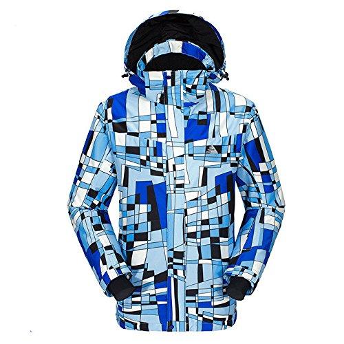 Hzjundasi ファッション 冬 アウトドア スポーツ 職業 スキー スノーボード ジャケット Co で 防水 防風 暖かい 大人用メンズ B077QJX9VN Large Color 5 Color 5 Large