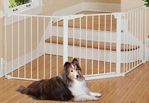 short pet gates for stairs this gate configured number ways suit containment door opening section reviews bottom of