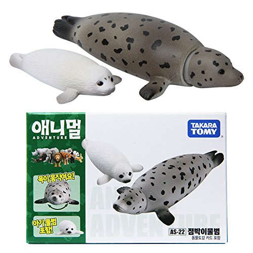 Takara Tomy ANIA AS-22 Animal Spotted Seal Action Figure Toy 2pcs