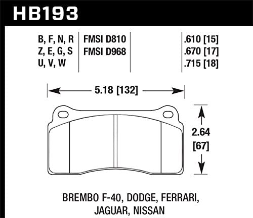 Hawk Performance HB296F.670 HPS Performance Ceramic Brake Pad
