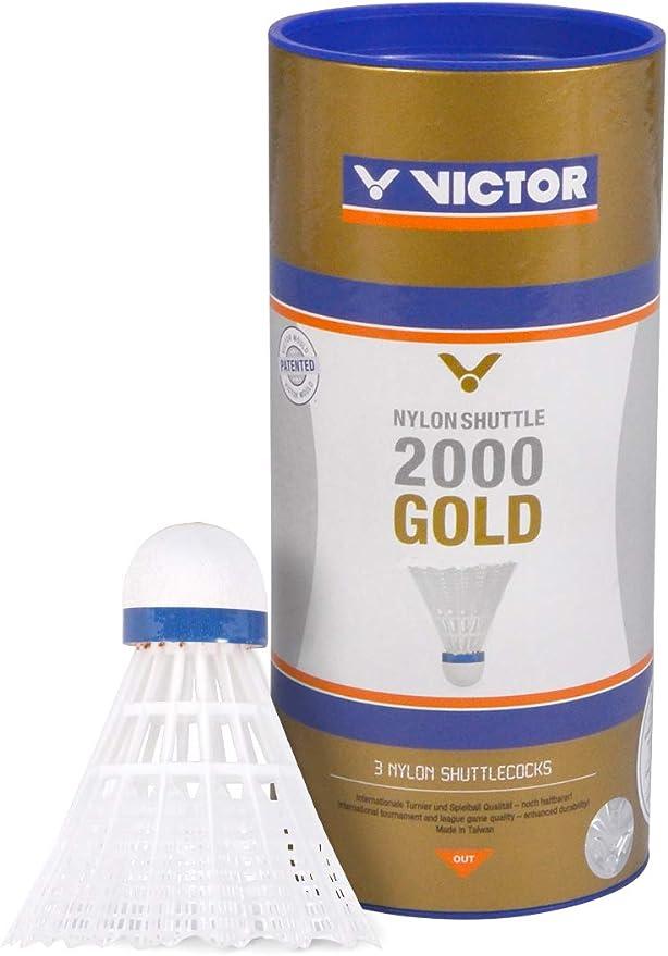 Yellow or White Medium Speed *NEW* VICTOR Nylon Shuttlecocks 3000 /'Platinum/'