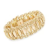 Ross-Simons 14kt Yellow Gold Woven Link Bracelet, Made in Italy, Includes Presentation Box