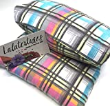 Choose Unscented or Lavender. EXTRA Large 11 x 21 in. microwave flax heating pad, The ''Flax Sak'' Hot/cold pack with removable/washable cover. Pastel Plaid.