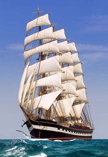 Segelschiffe auf dem meer  500 Teile Puzzle Kinderpuzzle SEGELSCHIFF SCHIFF MEER Castorland ...