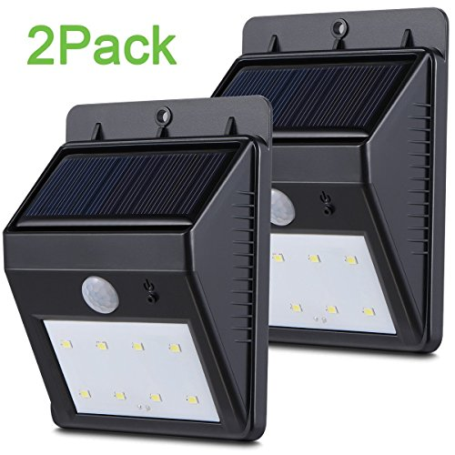 Boomile Super Bright Outside Waterproof Motion Sensor Lights, LED Solar Lights Outdoor, Patio Deck Lights, Solar Powered Lighting For Yard, Backyard, Pathway & Driveway (2 Pack)