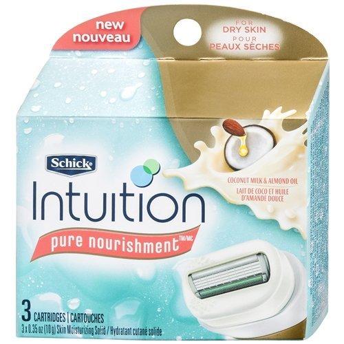 - Schick Intuition Pure Nourishment Coconut Razor Refill 3 Cartridges