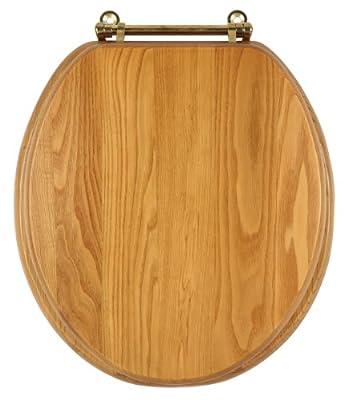 Design House 561241 Dalton Round Toilet Seat, Honey Oak Finish